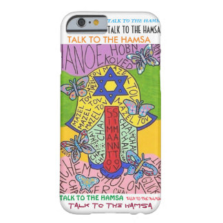 iPhone 6 case Yiddish Star of David Hamsa Barely There iPhone 6 Case