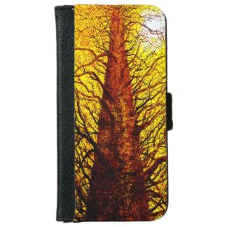 Iphone 6 flip case/wallet Beautiful Golden tree iPhone 6 Wallet Case