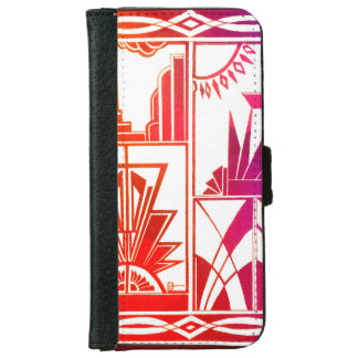 Iphone 6 flip case/wallet Funky black and white iPhone 6 Wallet Case