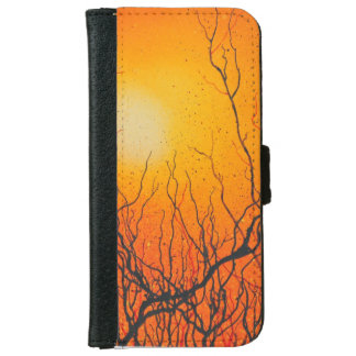 Iphone 6 flip case/wallet Funky orange abstract iPhone 6 Wallet Case