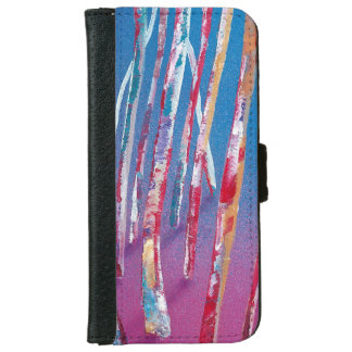 Iphone 6 flip case/wallet Funky Pink Forest iPhone 6 Wallet Case