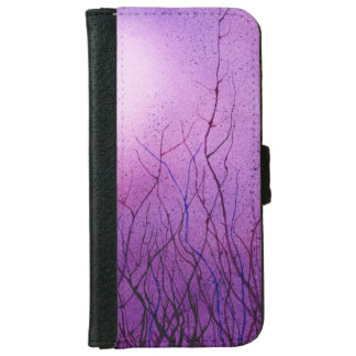 Iphone 6 flip case/wallet funky purple abstract iPhone 6 wallet case