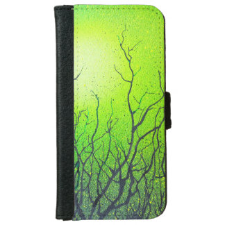 Iphone 6 flip case/wallet green abstract iPhone 6 wallet case