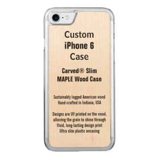 iPhone 6 Maple Real Carved iPhone 8/7 Case