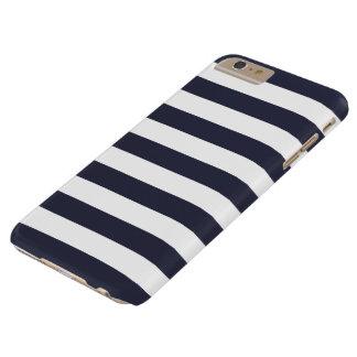 iPhone 6 Plus Case - Classic Navy Blue Bold Stripe