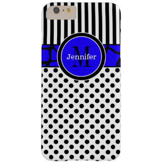 iPhone 6 Plus Case | Stripes, Dots | Blue