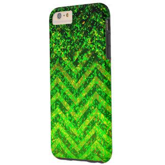 iPhone 6 Plus Case Tough Zig Zag Sparkley Texture