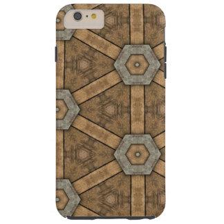 iPhone 6 Plus, Tough - Brown Pattern Tough iPhone 6 Plus Case