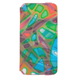 iPhone 6 Wallet Case Colorful Stained Glass Incipio Watson™ iPhone 6 Wallet Case
