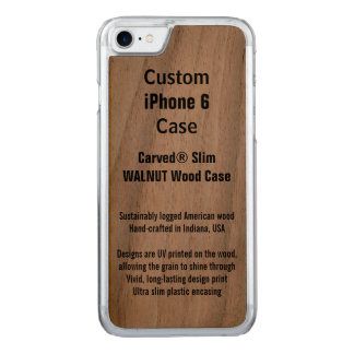 iPhone 6 Walnut Real Carved iPhone 8/7 Case