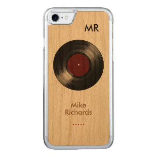 iPhone 6 with vinyl record on wood Carved iPhone 8/7 Case