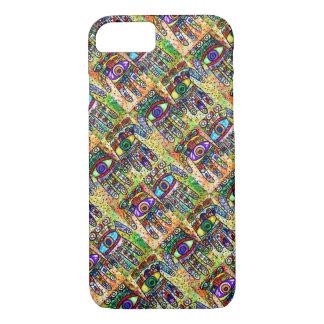 iPhone 7 Batik Judaica Eclectic Hamsa cell II iPhone 7 Case