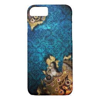 iPhone 7 Blue Grunge Steampunk Case