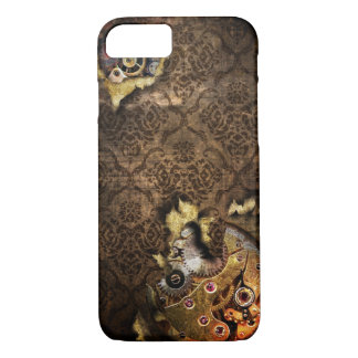 iPhone 7 Brown Grunge Steampunk Case