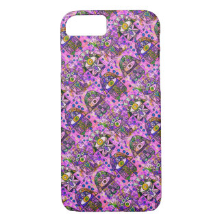 iPhone 7 BubbleGum Pink Hamsa cell II iPhone 7 Case