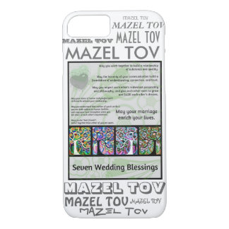 iPhone 7 case 7 Wedding Blessings Mazel Tov Cell