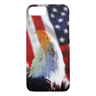 iPhone 7 case - Bald eagle on american flag
