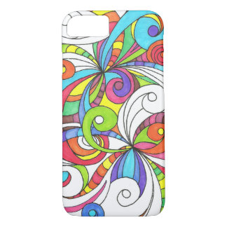 iPhone 7 Case Barely There Floral Doodle Drawing