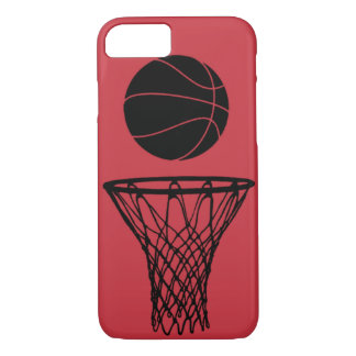 iPhone 7 case Basketball Silhouette Bulls Red