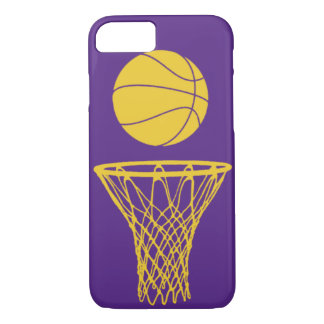 iPhone 7 case Basketball Silhouette Lakers Purple