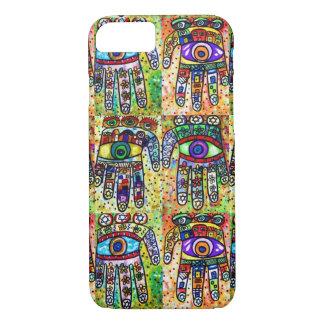 iPhone 7 case Batik Judaica Eclectic Hamsa cell