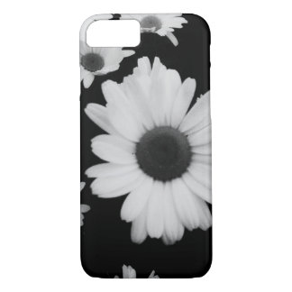 iPhone 7 Case Black and White Daisies