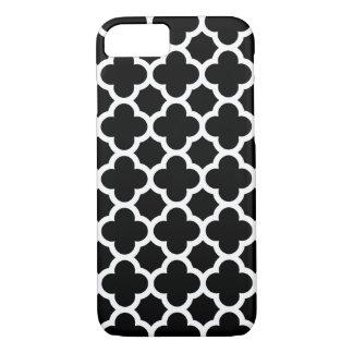 iPhone 7 Case - Black and White Quatrefoil