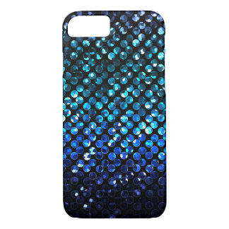 iPhone 7 Case Blue Crystal Bling Strass