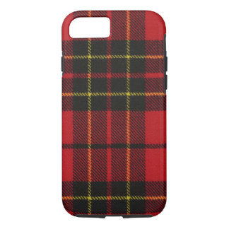 iPhone 7 case Brodie Red Modern Tartan Case
