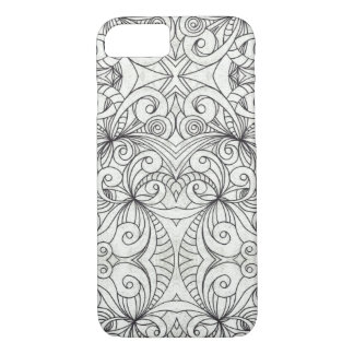 iPhone 7 Case Floral Doodle Drawing