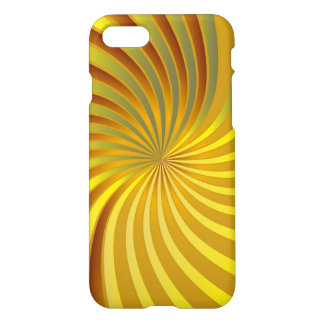 iPhone 7 Case Gold Spiral Vortex
