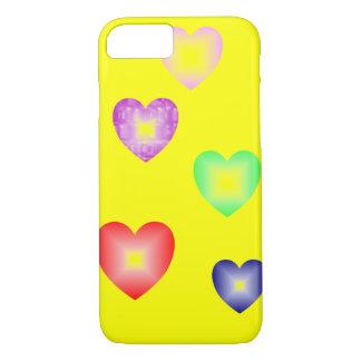 iPhone 7 case modern design hearts