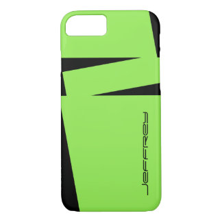 iPhone 7 Case Modern Green and Black All Occasion