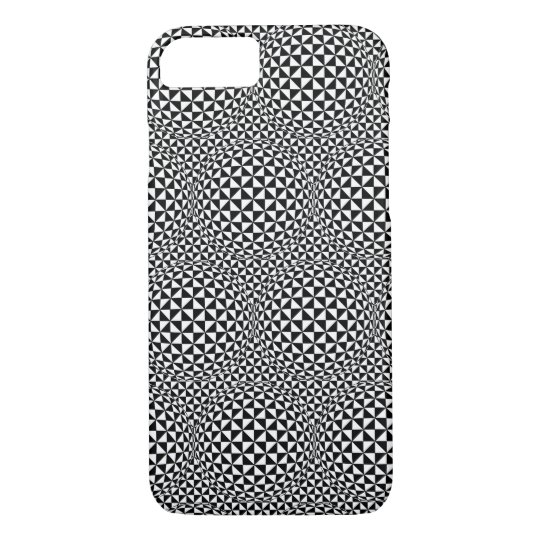 iPhone 7 case - Optical Illusion Black/White