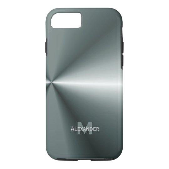 iPhone 7 case: Personalised : Metal Look Case