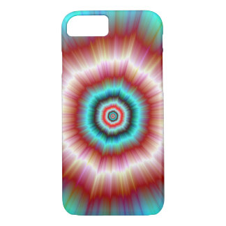 iPhone 7 Case  Red and Blue Exploding Doughnut