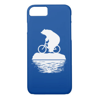 iPhone 7 Case: Save the Planet Polar Bear Bicycle iPhone 7 Case
