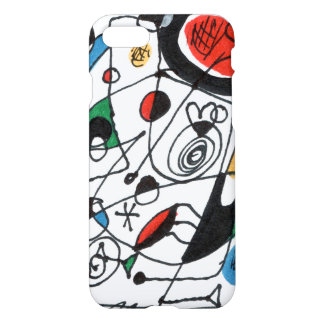 iPhone 7 case, sketch in Miro style, Frank le Pair iPhone 7 Case