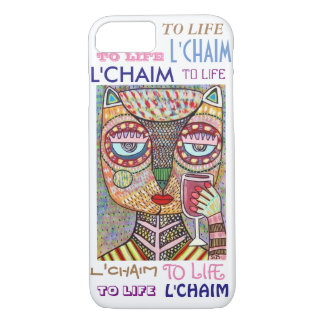 iPhone 7 case To Life L'Chaim Fancy Owl Cell