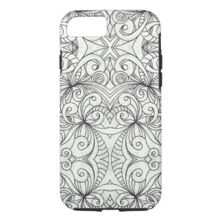 iPhone 7 Case Tough Floral Doodle Drawing