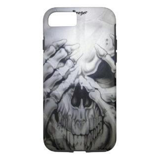 iPhone 7 case tough - Peek-a-BOO Skull