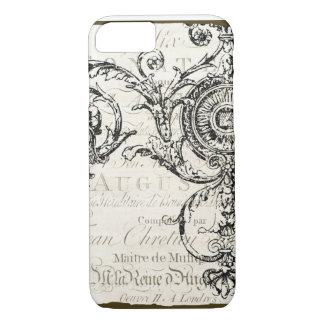 iPhone 7 case Vintage Ephemera French Script
