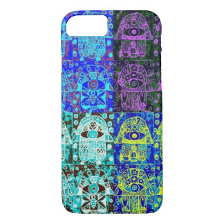 iPhone 7 case Vintage Midnight Hamsa cell