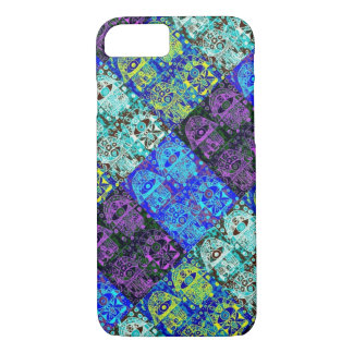 iPhone 7 case Vintage Midnight Hamsa cell II