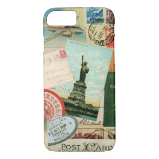 iPhone 7 case-Vintage Travel and Stamps iPhone 8/7 Case