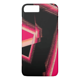 iPhone 7 case with Geometric Shapes in Red