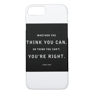 iPhone 7 case with inspirational quote.