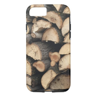 iPhone 7 case wood pile