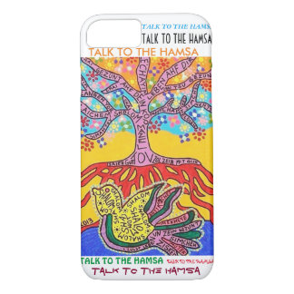 iPhone 7 case Yiddish Peace Dove Tree of Life cell