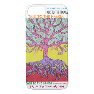 iPhone 7 case Yiddish Pink Tree of Life cell